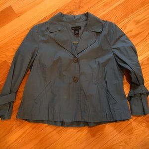 Rafaella L slate blue jacket business cardigan